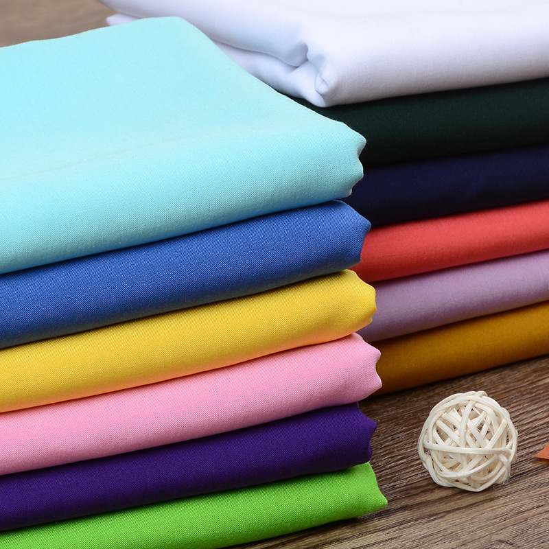160cm*100cm Cotton Fabric Pure Color Artificial Cotton Cotton Fabric Baby Cotton Summer Pajamas Fabric Curtain 100% Cotton Casua