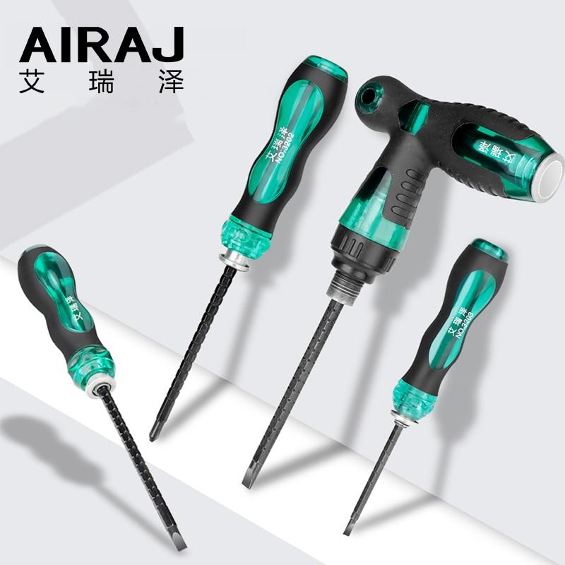 AIRAJ Telescopic Dual-purpose Screwdriver Detachable Short / Long Handle Multi-function Household Repair Tool