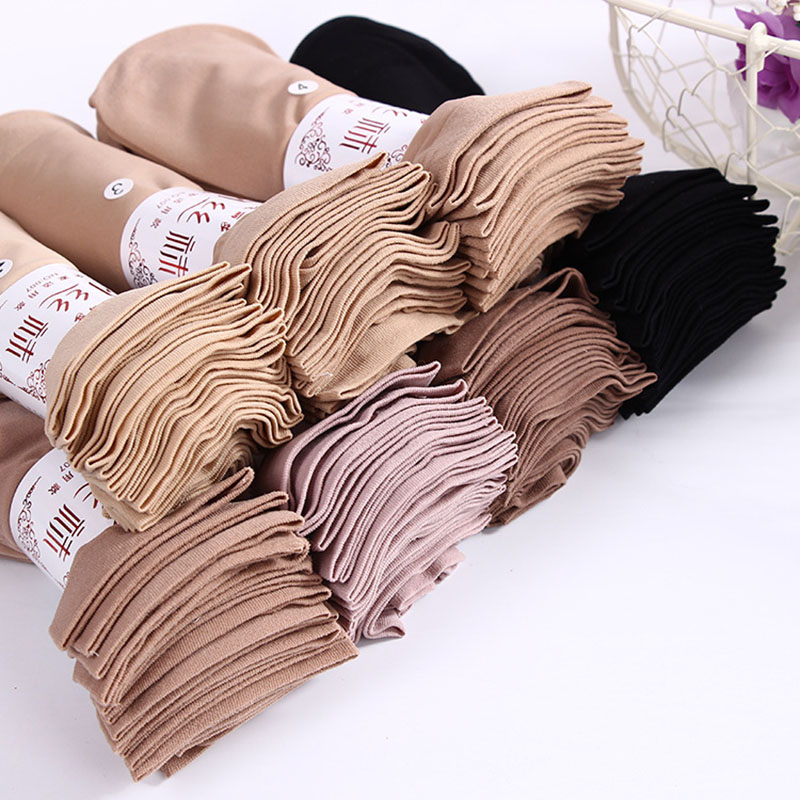 10 Pairs / lot Hot Sale Autumn Comfortable Silk Socks Women Low Price Cool Solid Color Breathable Sexy Skin Sock 6 Colors