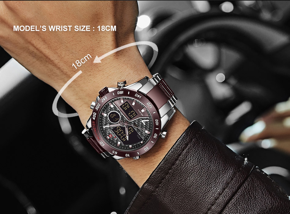 H509f540ef9944c36a78fdf466c9fdfffc NAVIFORCE Men Digital Watch LED Sport Military Mens Quartz Wristwatch Male Luminous Waterproof Clock Watches Relogio Masculino