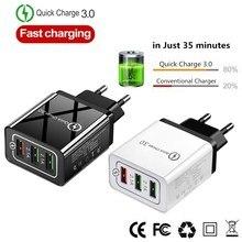 Быстрое зарядное устройство USB зарядное устройство для телефона Быстрая зарядка QC3.0 5 В/3A EU/US/Plug настенное зарядное устройство для samsung Xiaomi huawei iphone зарядное устройство