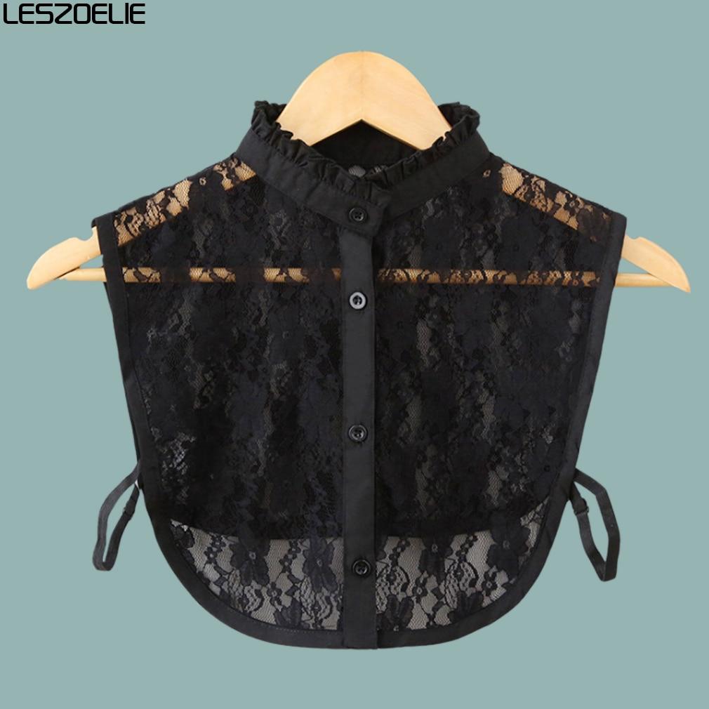 Chiffon Fake Collar For Women 2019 Soft Neckwear DIY Accessories Girls Solid White Detachable Collar Lady Detachable Collars