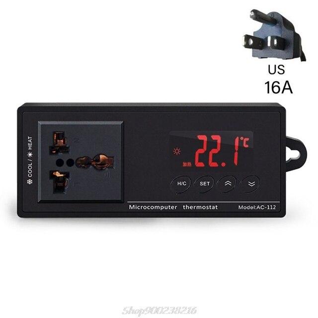 16A AC-112 sortie Thermostat pour animaux de compagnie régulateur de température numérique chauffe-Aquarium E06A
