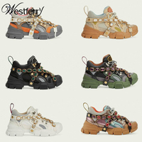 off white shoes brand spring and summer water drill ins web celebrity dad shoes tide shoes leather women sneakers