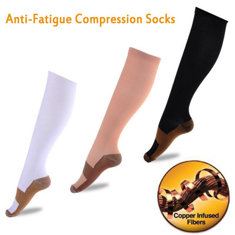 Compression Stockings Sports Socks Pressure Nylon Varicose Vein Stocking Knee Leg Support Stretch Pressure Circulation Stock