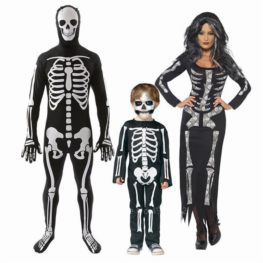 Boys Skeleton Costume Day Of The Dead Halloween Childs Kids Fancy Dress Outfit