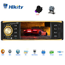 Hikity 1 Din автомагнитола 4019B аудио стерео USB AUX FM Bluetooth радио станция MP3 плеер с камерой заднего вида дистанционное управление