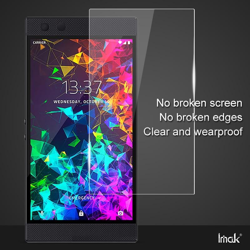 Para el teléfono Razer 2 Razer Phone2 Protector de pantalla película protectora IMAK transparente suave a prueba de explosiones anti-grieta
