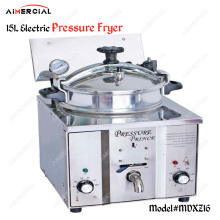 MDXZ16 Electric Chicken Pressure Fryer Commercial Stainless Steel Deep Fryer 15L Food chips frying machine With thermostat df5g free standing electric temperature controlled commercial deep donut large capacity chicken chip fish fryer with basket