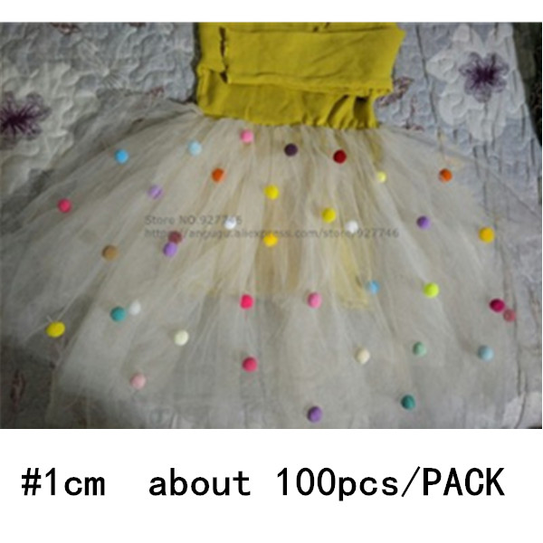 100pcs Pack 1cm Small Colorfully Ball Boys Girls Toys Kindergarten DIY Handmade Materials For Children Creative Material BS94