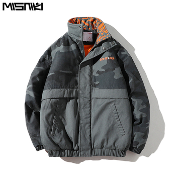 Misniki 2019 Men Winter Jacket Stand Collar Parka Men Military Thick Warm Windproof Outerwear Male Clothing Parka Hombre JP01