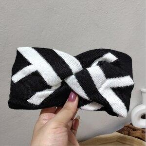 Image 5 - ผู้หญิงJacquard Wool BlendถักElastic HeadbandsผมBand