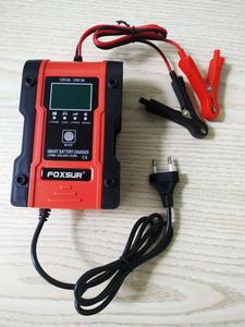 Image 2 - Foxsur – chargeur Intelligent de batterie au Lithium 12V/24V 6amp, pour voiture et moto, automatique, 7 étages, plomb acide