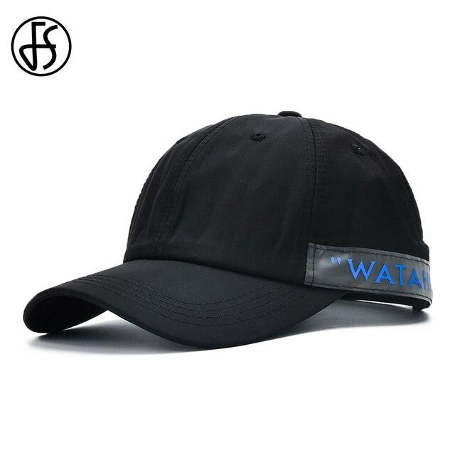 FS solide coréen lettre étiquetage casquettes de Baseball été Street Wear casquette de camionneur pour femmes hommes Snapback plaine papa chapeaux 2020