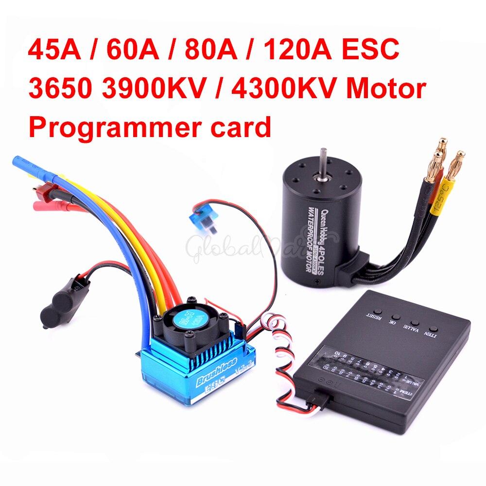 3650 3100kv 3900kv 4300kv бесщеточный двигатель/45A 60A 80A 120A бесщеточный ESC электрический регулятор скорости для 1:10 автомобиля 1/10 RC|Детали и аксессуары|   | АлиЭкспресс