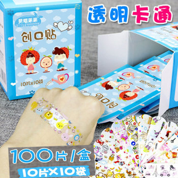 Waterproof Breathable Cute Cartoon Band Aid Hemostasis Adhesive Bandages Outdoor Portable First Aid Emergency for Kids Children 100pcs waterproof breathable cute cartoon band aid hemostasis adhesive bandages first aid emergency kit for kids children