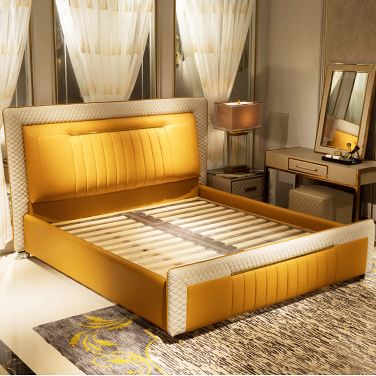 French Style 1 8m Princess Leather Bed