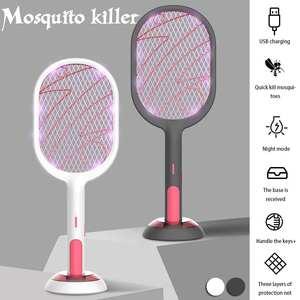 Neue 3000V Elektrische Insekten Schläger Klatsche Zapper USB 1200mAh Wiederaufladbare Moskito-klatsche Töten Fly Bug Zapper Mörder Falle