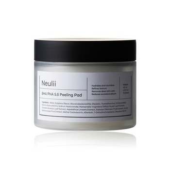 NEULII BHA PHA 5.5 Peeling Pad 70pcs Pimple Acne Treatment Dead Skin Cell Blackhead Removal Exfoliating Facial Mask Skin Smooth