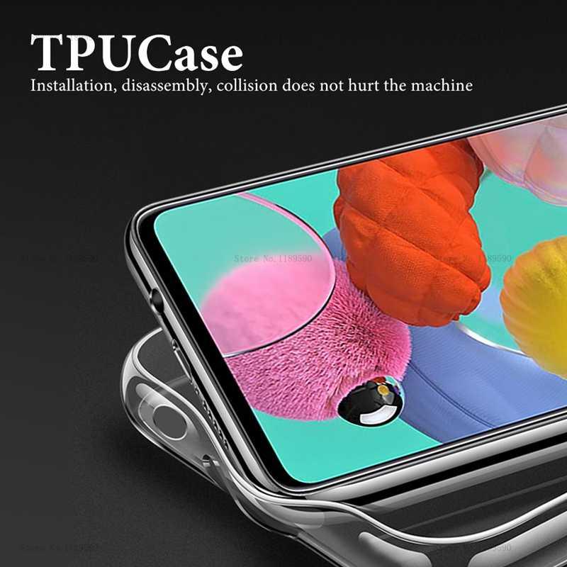 Für Samsung Galaxy A51 Fall abdeckung Ultra-dünne Transparente TPU Silikon Telefon Fall Für Samsung Galaxy A51 A71 EIN 51 71 2019 abdeckung