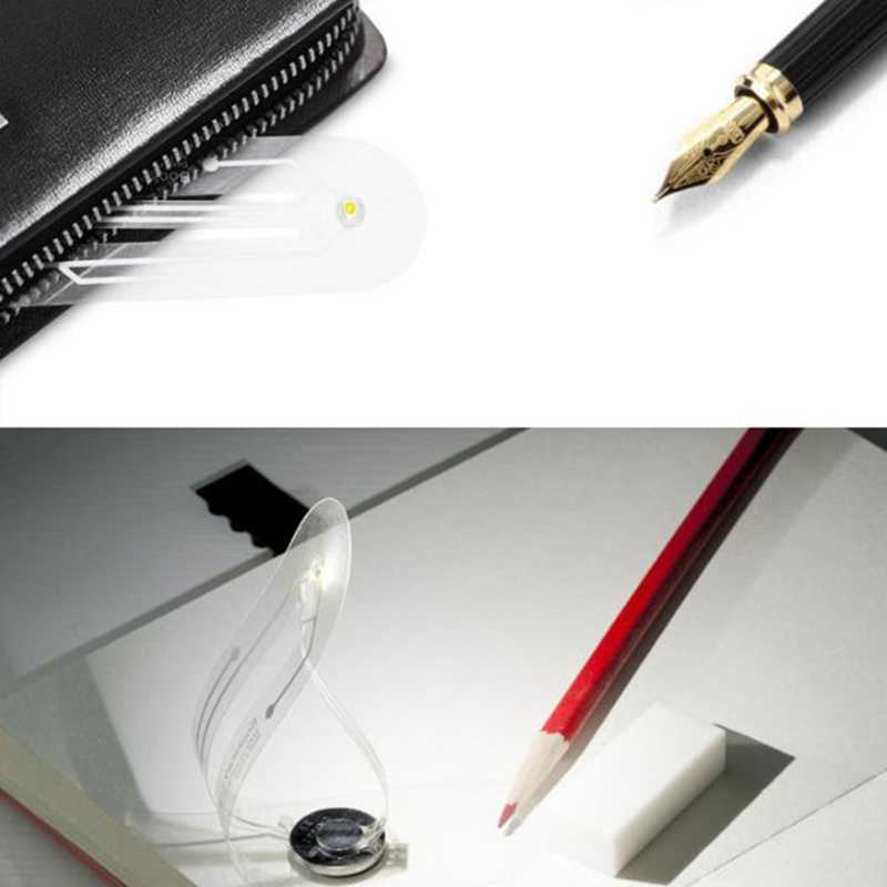 Mini Tragbare Led Buch Licht, Batterie Buttom Lesezeichen Led Lesen Licht, Ultra-Dünne Tasche Led Nacht Licht
