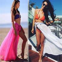 2020 Chiffon Sexy beach cover up women's sarong summer bikini cover-ups wrap pareo beach dress skirts towel