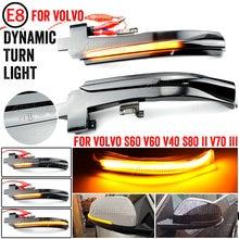 Paar LED Dynamische Seite Spiegel Anzeige Licht Blinker Lichter für Volvo S60 CC S60 II S80 II V40 CC 40 II V60 V60 CC V70 III