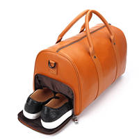 Genuine Leather Travel Bag Men Gym Bags Large Capacity Overnight Weekend Women Luggage Bag Duffle Tote Men's Sports Fitness Bags