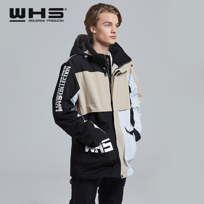 Зимнее мужское лыжное пальто, ветрозащитная Водонепроницаемая уличная Теплая мужская одежда для снега на одной доске и двойной доске, пуховая куртка