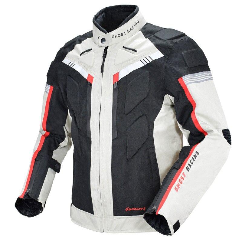 Moto veste hommes imperméable coupe vent corps complet de protection automne hiver équitation course moto veste vêtements 128 - 4