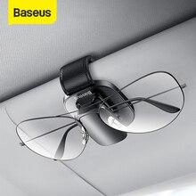 Baseus Soporte para almacenamiento de gafas en coche, clip para lentes de sol, accesorios para organizar el interior de Audi y BMW