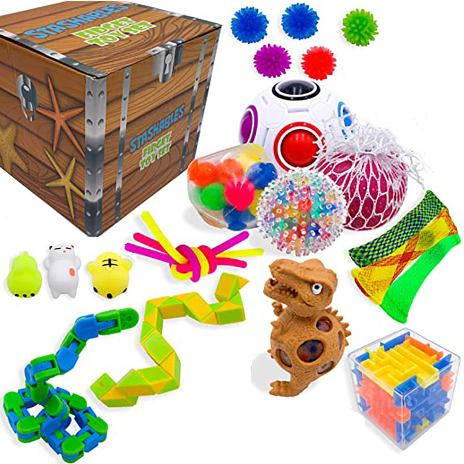 Fidget Toys Set EDC Hand Autism ADHD Anxiety Stress Relief Squeeze Toys Pop Bubble Fidget