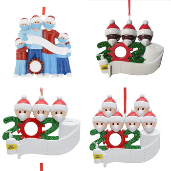Christmas Diy Name Blessings Mask Snowman Christmas Tree Hanging Pendant Ornaments Home Decor Christmas Decoration image
