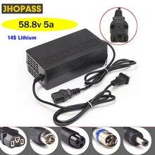 Зарядное устройство для литиевых аккумуляторов 58,8 в, 5 А, 48 В, 5 А, 14 с для электровелосипеда, балансирующего автомобиля, скутера, зарядное уст...