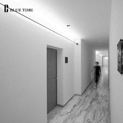Led lustre horizon lumière barre lumineuse 110V 220V plafond lustre lampe pour salon chambre salle à manger cuisine Luminaires