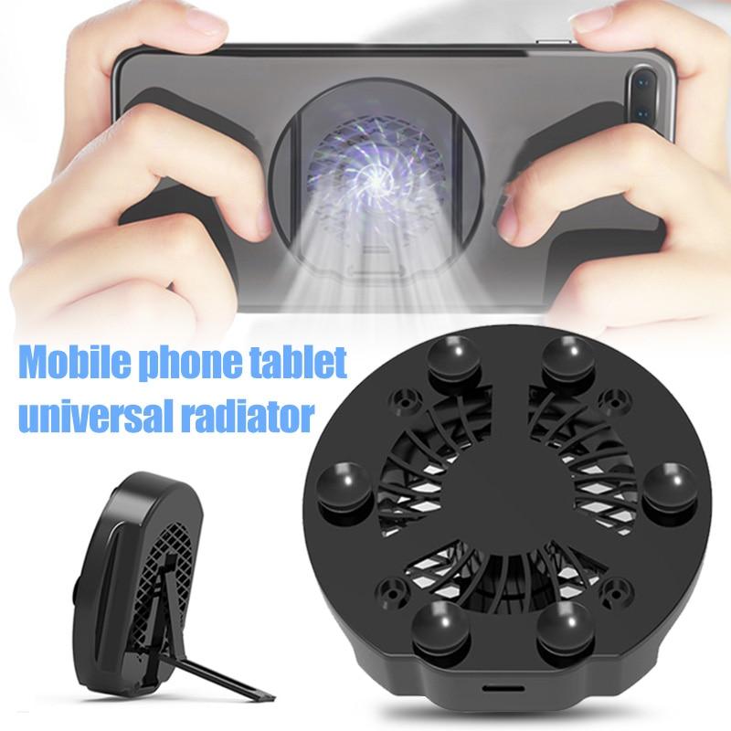Universal Mobile Phone USB Cooler Cooling Fan Gamepad Holder Stand Bank Radiator Mute Fan For Iphone Xiaomi HUAWEI
