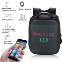 Backpack Intelligent LEDs Fashion Laptop Sport Backpack School Bag Camping Hunting Heat Dissipation Mobile Remote Change Content