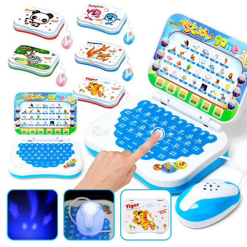 New Foldable Chinese English Learning Computer Laptop Baby Kids Toy Gifts High Quality Kids Children Education Toys