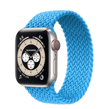 Braided Solo Loop For Apple watch strap 44mm 40mm 38mm 42mm FABRIC Nylon Elastic belt bracelet iWatch series 6 3 4 5 se band cheap Lbiaodai CN(Origin) Other Watchbands New without tags 44 42 40 38 mm for applewatch aple aplle applle i watch 3 2 1 stretchable smartwatch wristband wrist belt correas Accessories