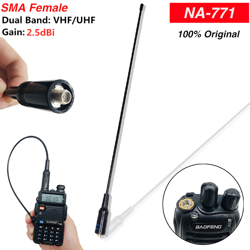 10w Original Baofeng NA-771 Antenna Dual Band VHF UHF High Power Gain Antena For Baofeng BF-888S UV-5R UV-82 Walkie Talkie Radio