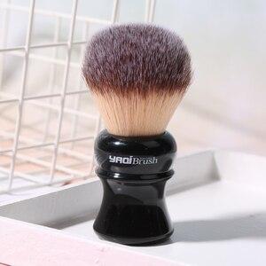 Image 3 - Yaqi pincel de barbear sintético com punho preto, 24mm, amarelo, cabelo sintético, molhado