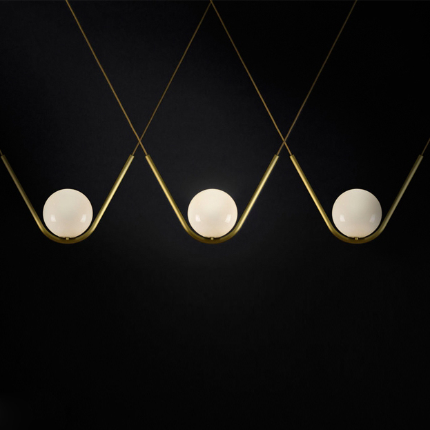 Modern Glass Dining Lighting Pendant Lamp Clear/cognac Glass Nordic Hang Lamp Bar Cafe Restaurant Sitting Room Lighting Fixtures