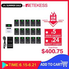 RETEKESS TT122 wireless tour guide system Transmitter+15 Receiver+ Charger Base for Church Tour Guide Meeting Factory Training wireless tour guide system yt200 yarmee for museum tour guiding simultaneous interpreter wireless meeting