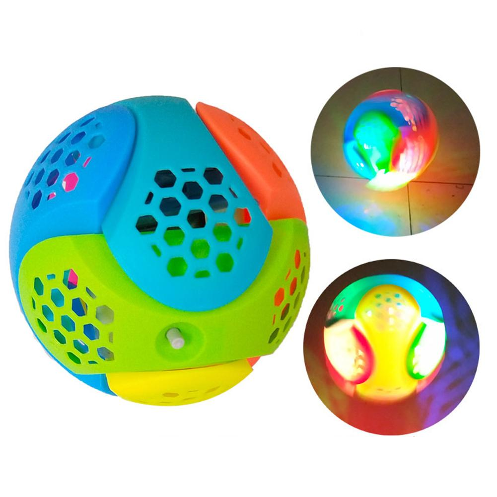 Luminous Toy Fleyin Ball Assembly Dancing Ball Lights Sound Music Children Luminous Toy Baby Kid Gifts Combination Toy LED Light