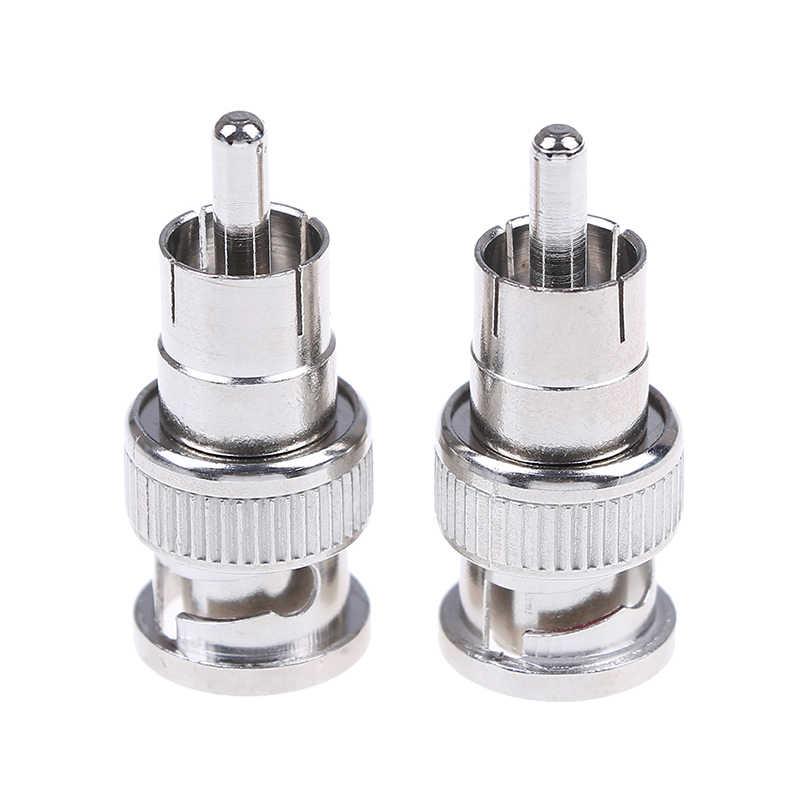2 sztuk/partia kamera telewizji przemysłowej hurtownia męskie bnc na rca męski koncentryczny adapter złącza łącznik kablowy