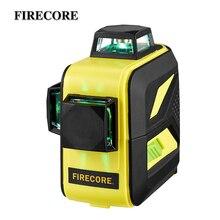 FIRECORE F93T XG 12 линий 3D 360 зеленый лазерный уровень Авто самонивелирующийся Горизонтальные и вертикальные поперечные линии с фиолетовым покрытием
