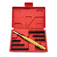 38pc/set Steel Die Metal Stamping Kit Punch Tool Number Letter Alphabet Stamps Tools DIY Jewelry Gold Silver Metal Leather Stamp