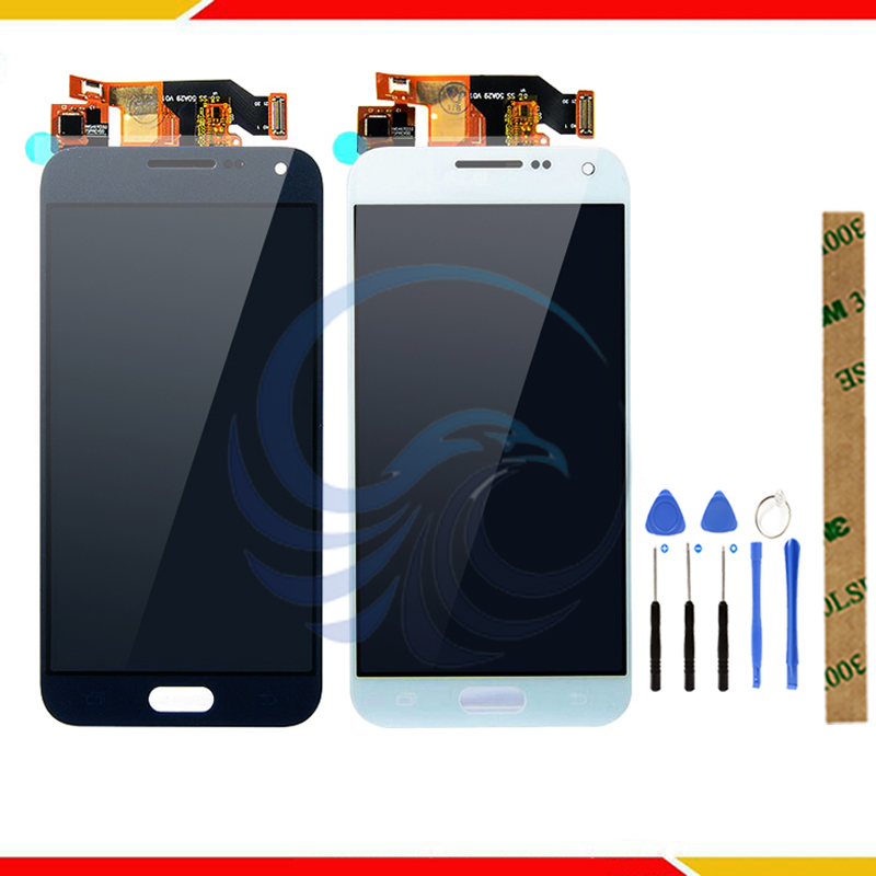 Top Qualität <font><b>LCD</b></font> Ersatz Montage Für Samsung Galaxy E5 <font><b>E500</b></font> E500F E500H E500M <font><b>LCD</b></font> Screen Digitizer Touch Display image