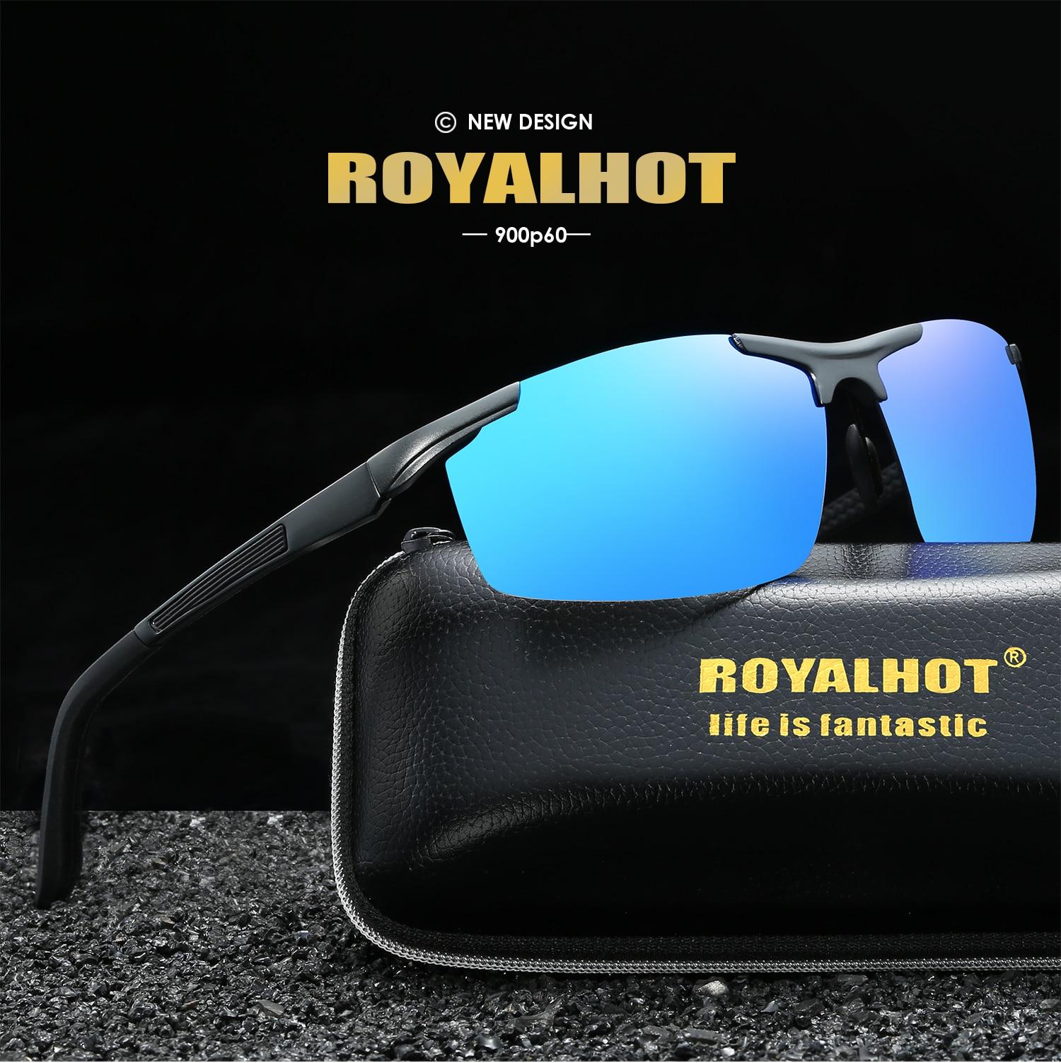 Image 2 - RoyalHot Men Women Polarized Aluminum Magnesium Frame Sunglasses  Driving Sun Glasses Shades Oculos masculino Male 900p60Mens Sunglasses   -