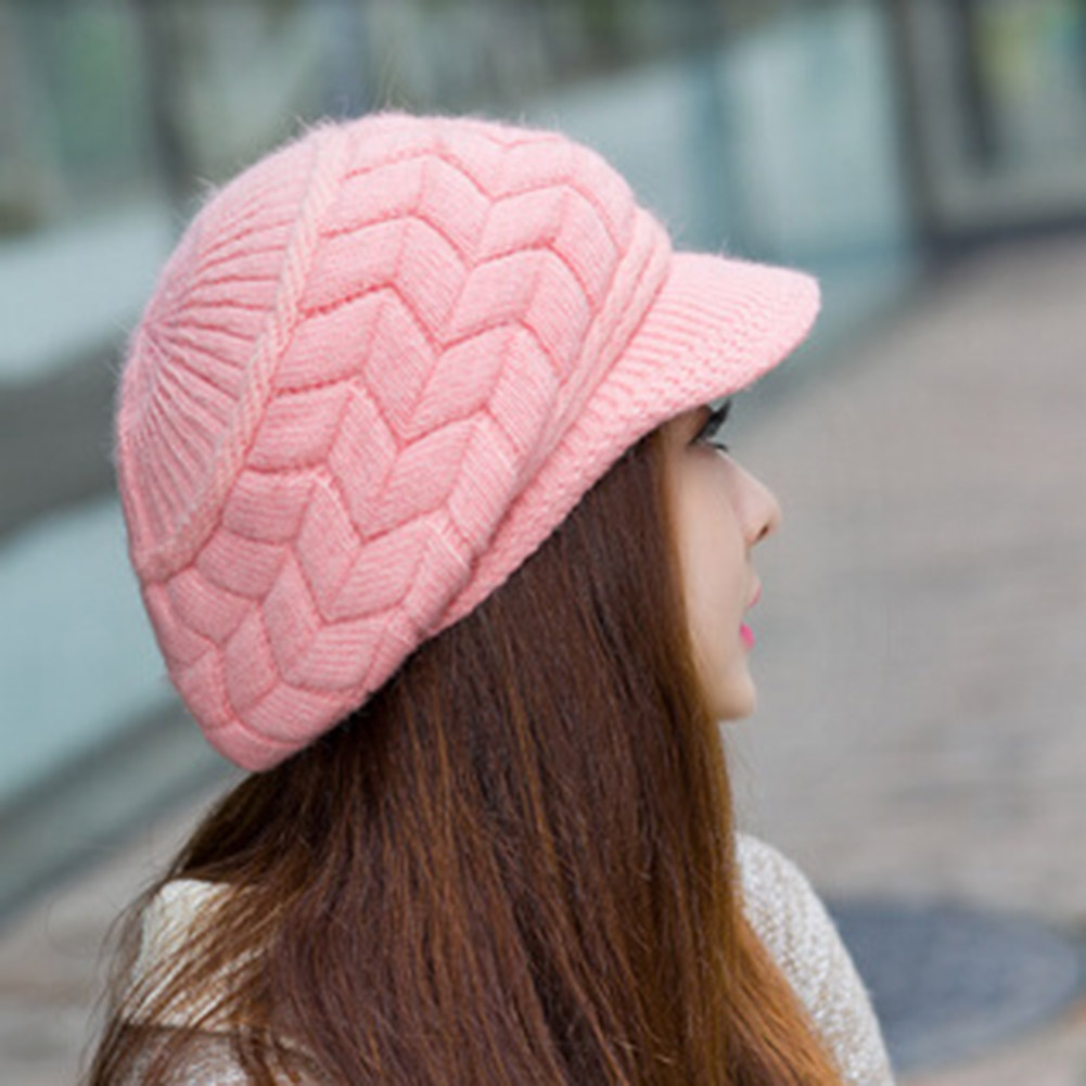 Hat Air Top Wool Hat for Girls Autumn and Winter Thickened Warm Knitted Hat Outdoor Running Peaked Cap winter hats for women